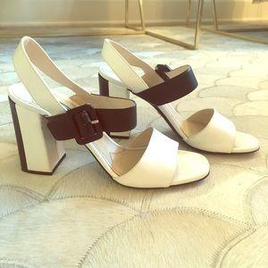 Black & White Prada Colorblock Heel
